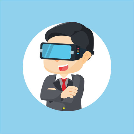 virtual: virtual reality illustration design
