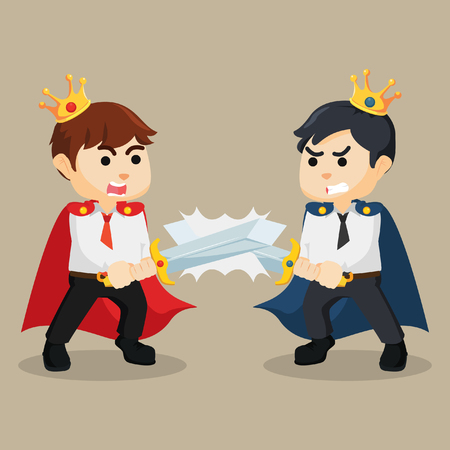 battle: battle between business king