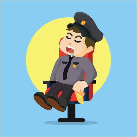 when: fat police sleeping when guarding