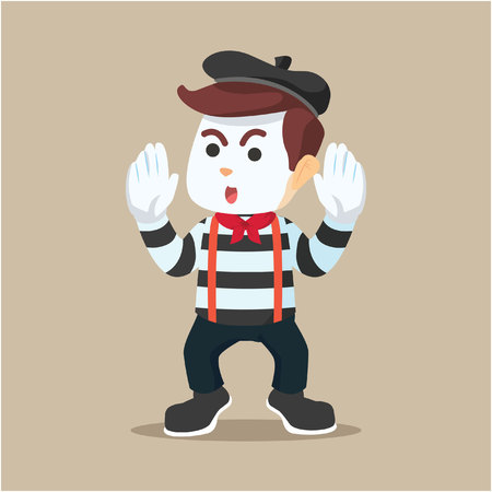 pantomime guy illustration character full colour