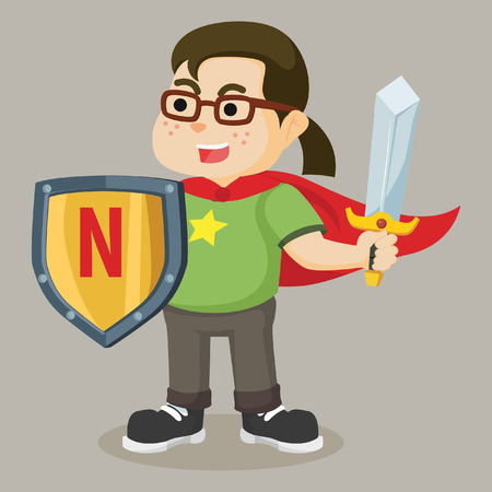 dressed as super nerd
