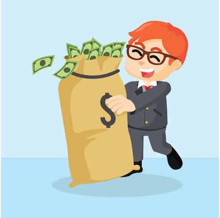 love of money: businessman who love money