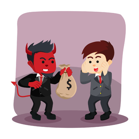 businessman evil offering money to businessman