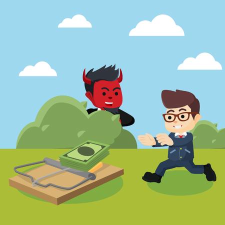 businessman evil set up money trap for other businessman