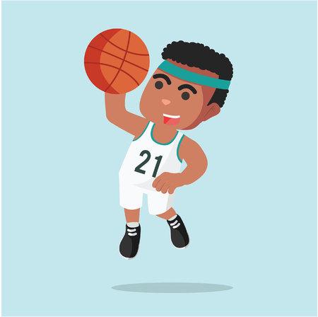 a man basketball slam dunk