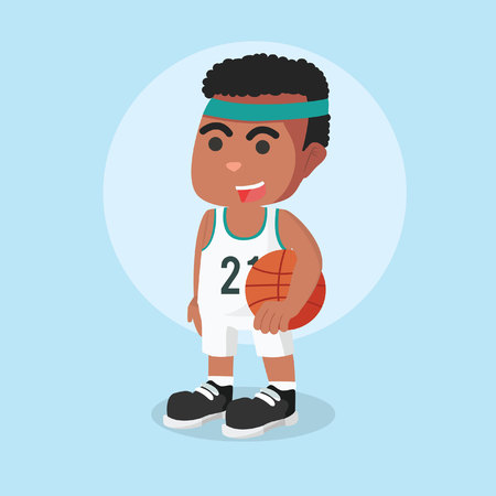 basketball player mens with basketball in hand