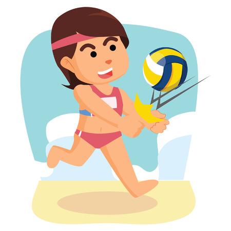 meisje volleybal repeling bal