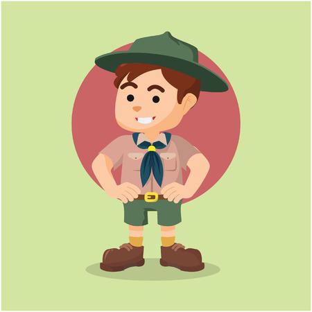 scout: boy scout illustration design