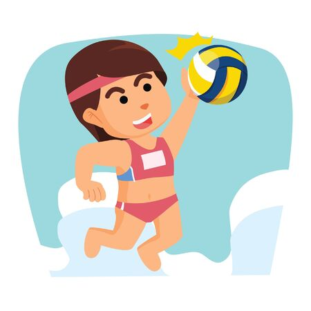 smashing: girl volleyball smashing ball