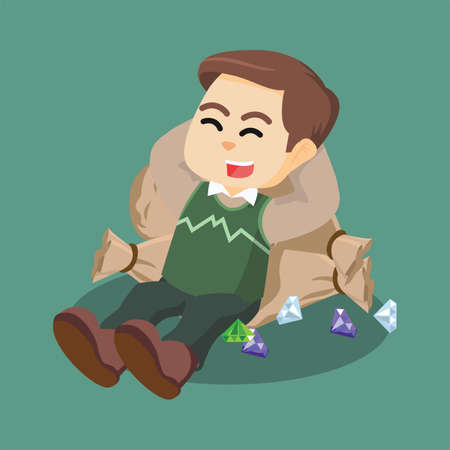 sleeping bags: men sleep on diamond bag
