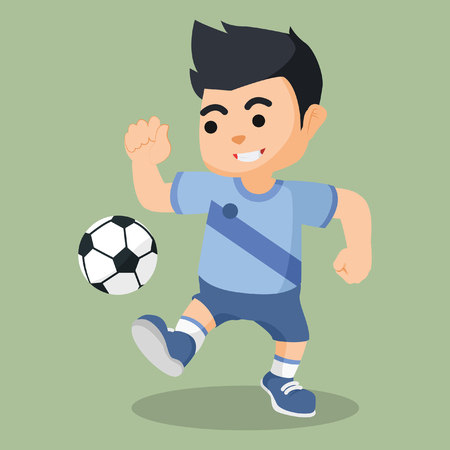 men dribbling football illustration design