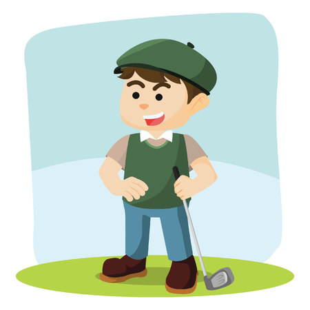 golf player: golf player illustration design colorful