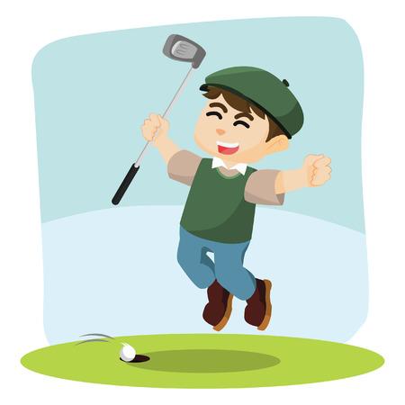 golf player: golf player happy illustration design Illustration