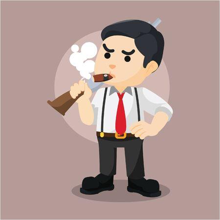 shotgun: mafia guy holding shotgun Illustration