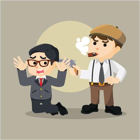hands tied: hostage mafia man illustration design