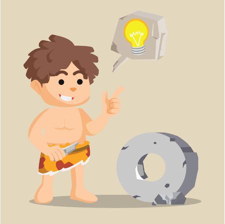 caveman stone ide illustration design Illustration