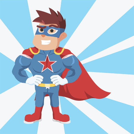 superhero illustration design colorful