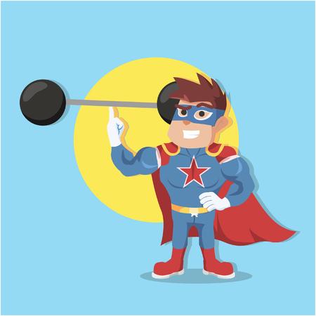 invincible: superhero easyly lifting weight
