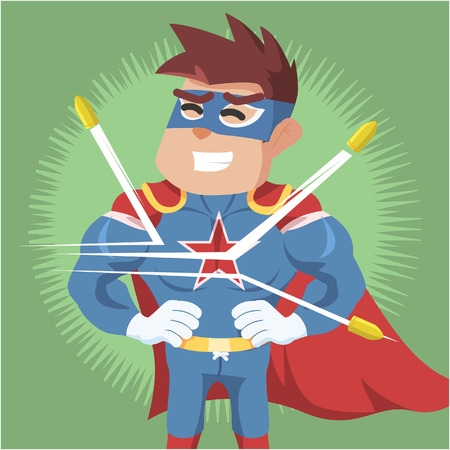 superhero bullet proof illustration design Illustration