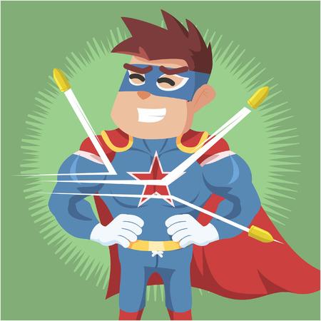 bullet proof: superhero bullet proof illustration design Illustration