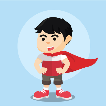 super boy with cloak on his arm Illustration