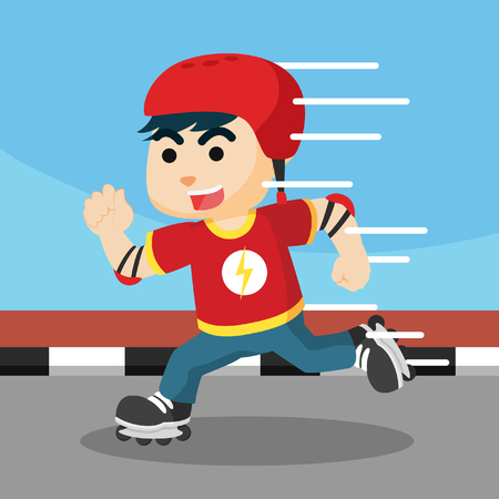 boy skater: roller skater boy illustration design