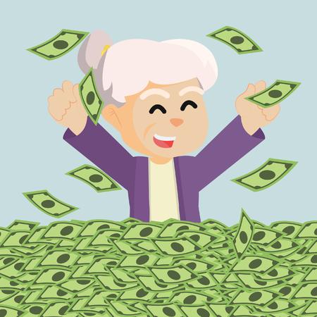 retired: grandman enjoy her retired money