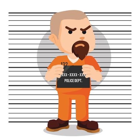 convict mugshot illustration design