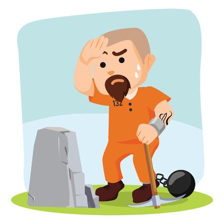 convict: convict prison work illustration design