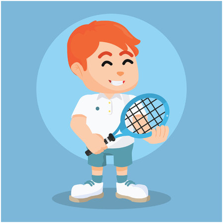quickness: tennis player pose colorful