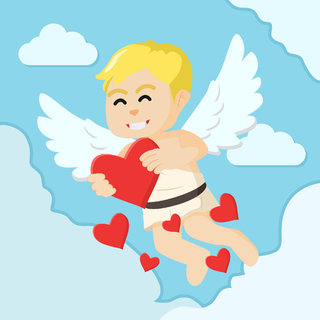unconditional: cupid boy spreading love colorful