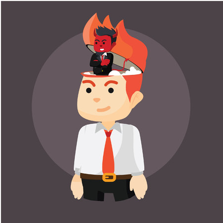 there are demons in the head businessman Vetores