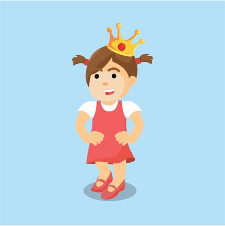 frog queen: girl with crown colorful