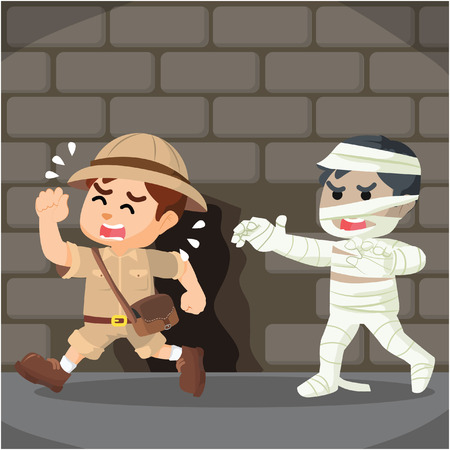 chased: explorer chased by living mummy