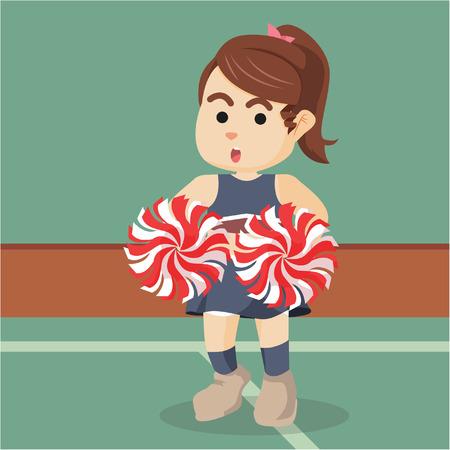 pom: cheerleader colorful illustration design Illustration