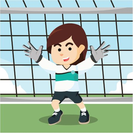 goal keeper: female soccer goal keeper Illustration