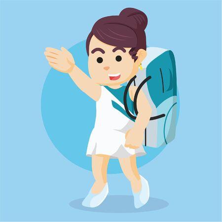 carrying: ribbon dancer walk carrying bag
