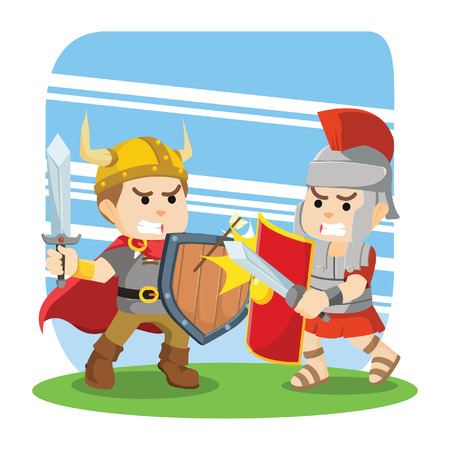 hector: roman soldier fight with viking
