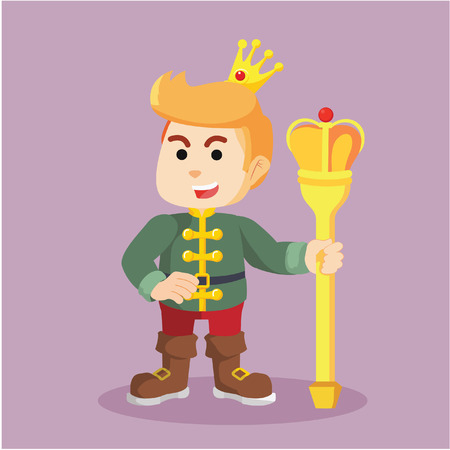 scepter: prince cheerful holding wearing crown