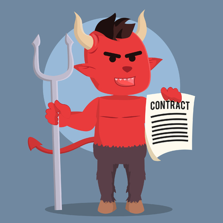 devil holding devil contract