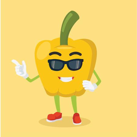 paprika man cool with sun glasses Illustration