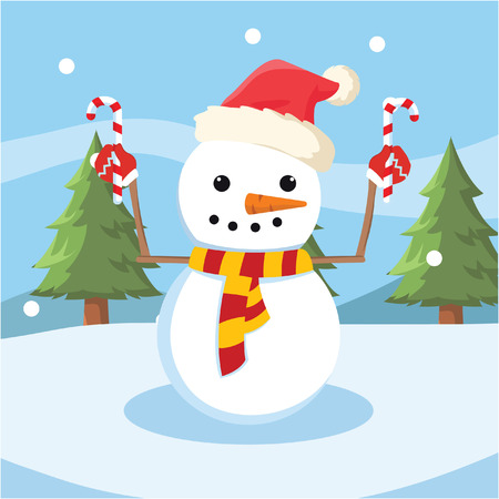 snowman stick christmas colorful