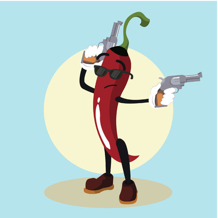 hit man: chili man the hit man illustration design Illustration