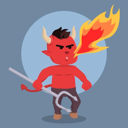 devil breath fire colorful