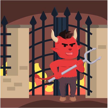 to hell: diablo que guarda la puerta del infierno