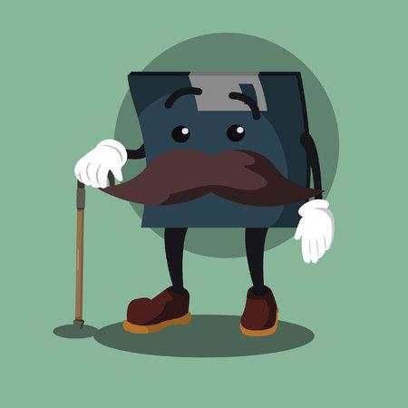 floppy disk illustration design