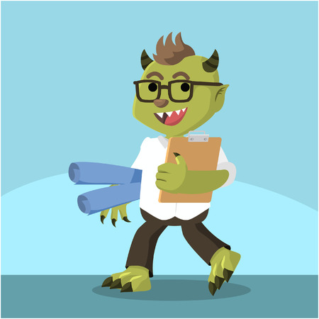 monster office ready carrying presentation material