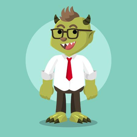 monster office illustration design