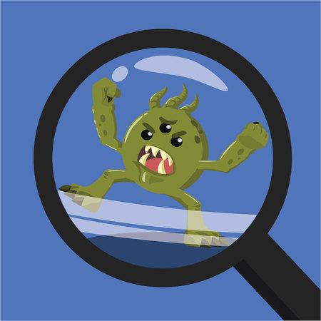trough: bacteria seen trough magnifiying glass