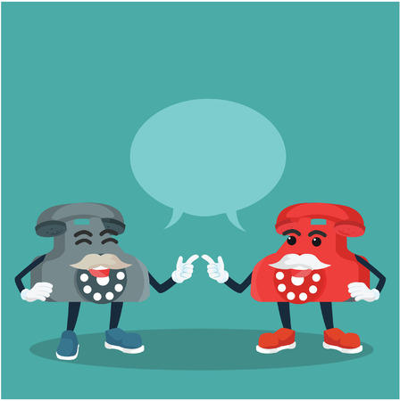 old telephone: old telephone chatting vector illustration design
